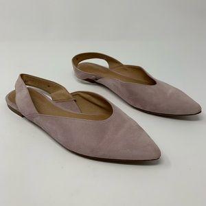 Madewell Shoes - Madewell Suede Ava Slingback Flat H6686, Sz 7 1/2